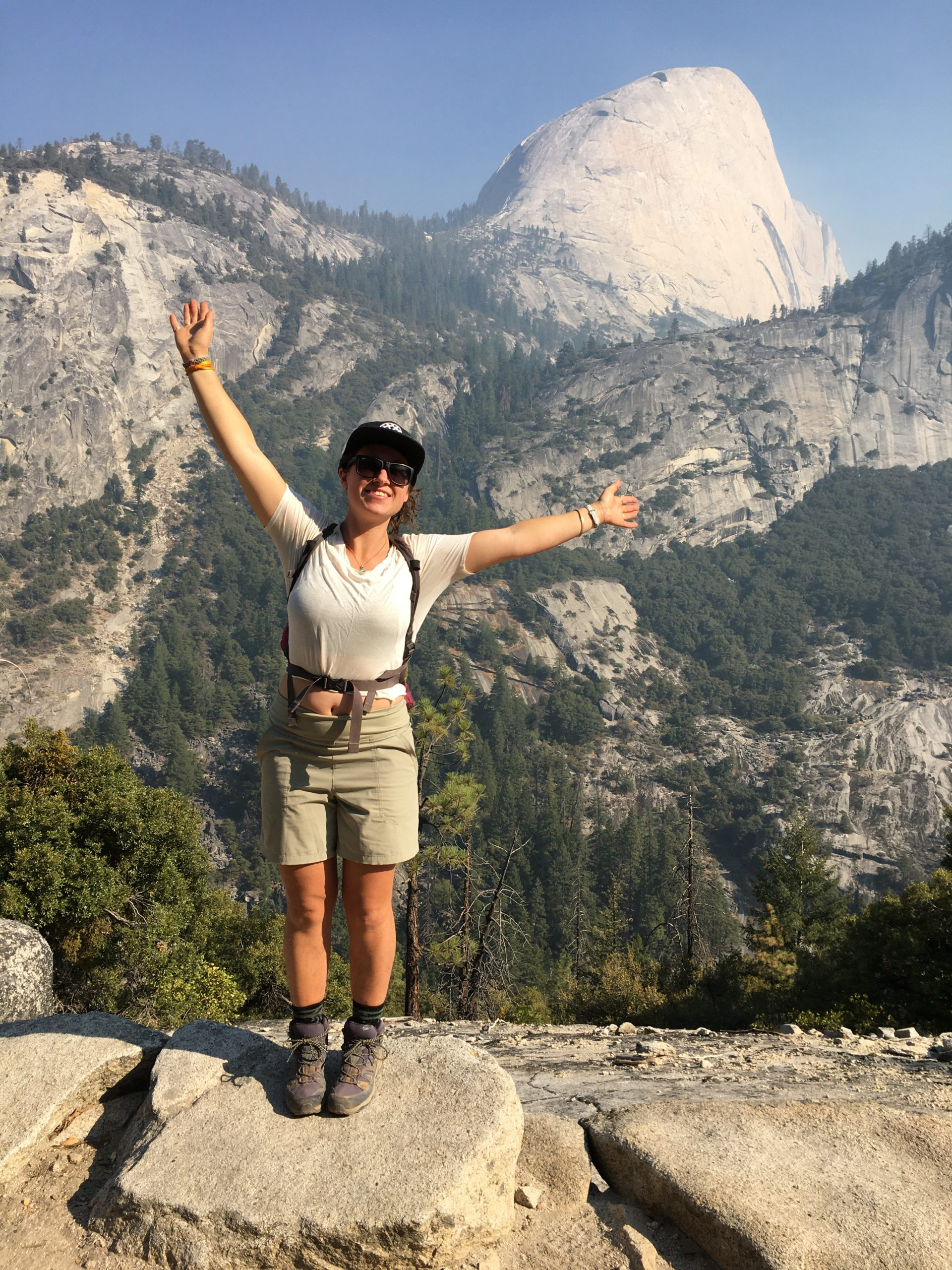 Rochelle poses in front of Half Dome in California.